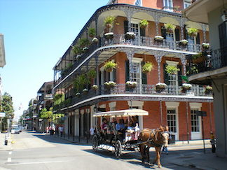 Horse and buggy in the New Orleans French Quarter