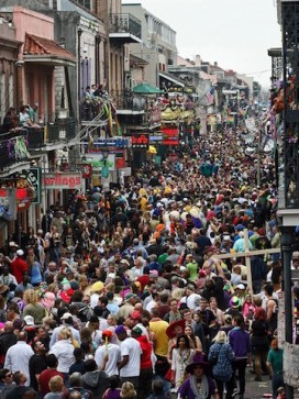 Bourbon St. crowd in panic after the Brexit vote.
