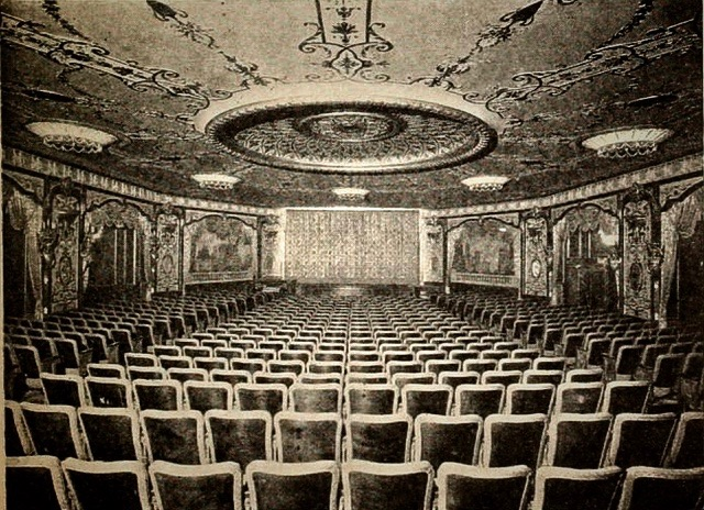Embassy I Auditorium. Photographer unknown. Courtesy of cinematreasures.org. Retouched by Rick Stachura. Circa 1925.