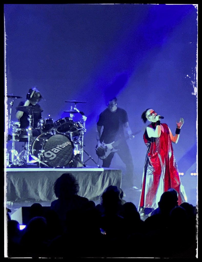 Butch Vig, Eric Avery, and Shirley Manson of Garbage at Kings Theatre. Photo by Rick Stachura. October 27, 2018.