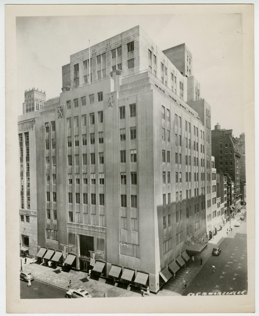 Bonwit Teller. 5th and 56th. Photo by Worsinger. Courtesy of the New School Archives. Circa 1940s.
