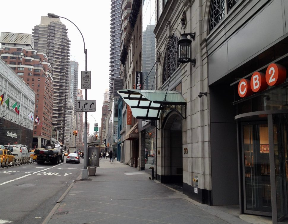 Photo by Rick Stachura. 3rd Avenue toward East 59th Street. April 4, 2014.