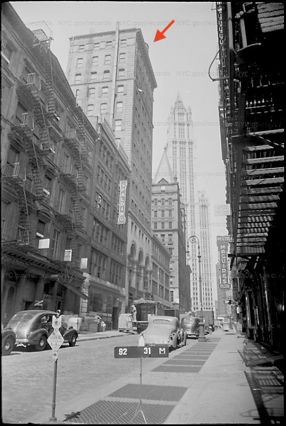 Photo by the New York City Department of Taxation. 15 Beekman. Circa 1939-1941.