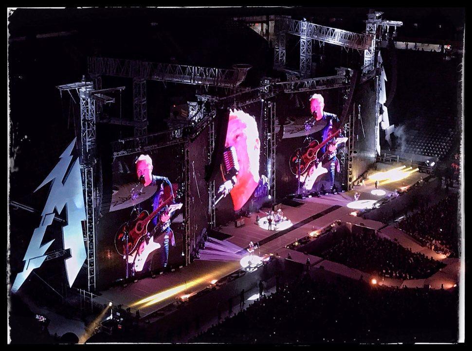 """Metallica Live (Part 1)."" James Hetfield. Photo by Rick Stachura. May 14, 2017."