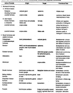 List of insect nonneural neural and peptide hormones also endocrine glands in insects rh notesonzoology