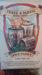 Hop Trash IPA from Three Barrel Brewing Company