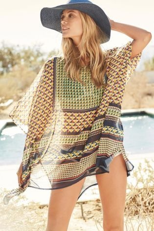 Next - Photo from Pinterest. Multi Geo Print Kaftan £26