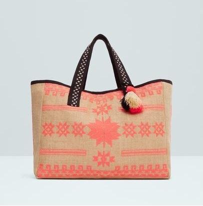 Mango - Jute Cotton-Blend Bag £29.99