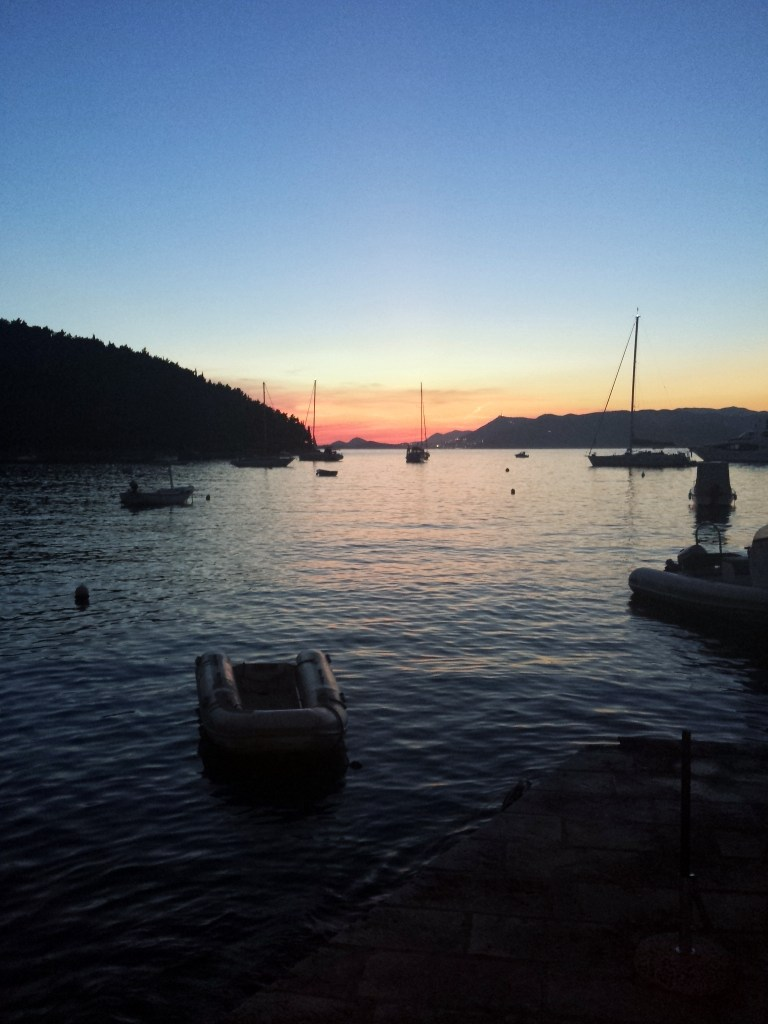 The sun sets on our week in Croatia
