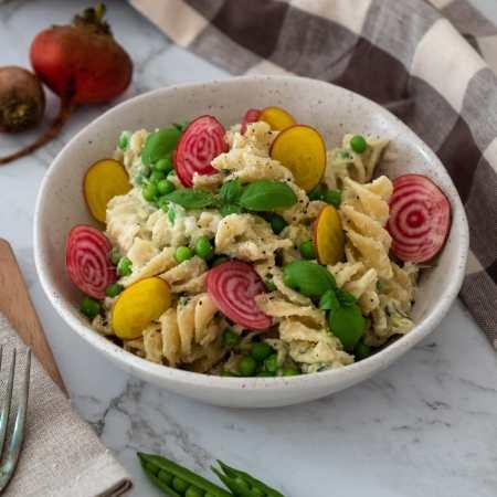 zucchini and pea pasta