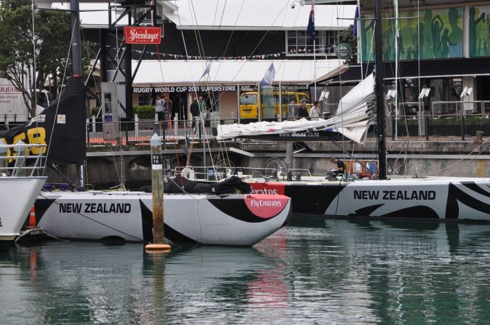 Sailing boats in Auckland Harbour