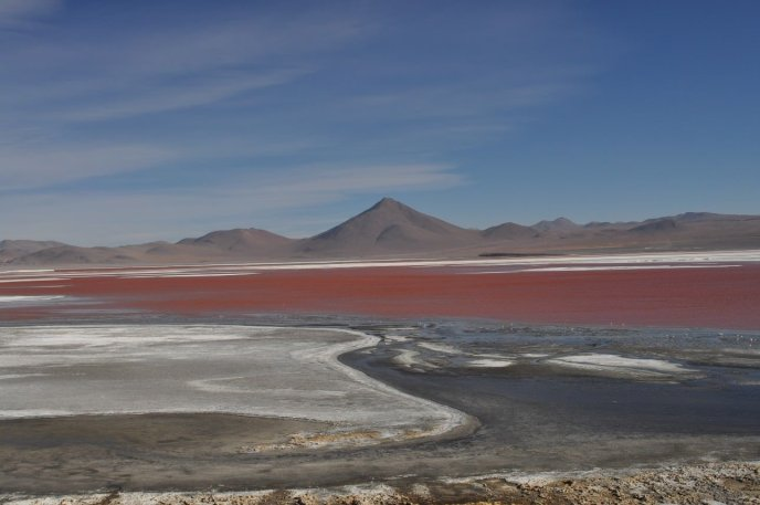 Bolivia amazing Red Lagoon