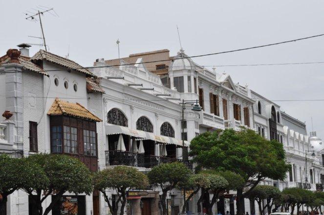 Sucre white colonial architecture