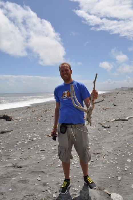 Bill on Hokitika beach