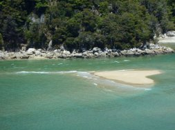 Abel Tasman heart shaped island