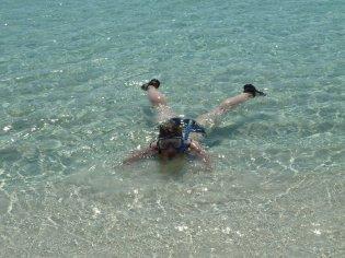 Eva swimming at Rottnest Island
