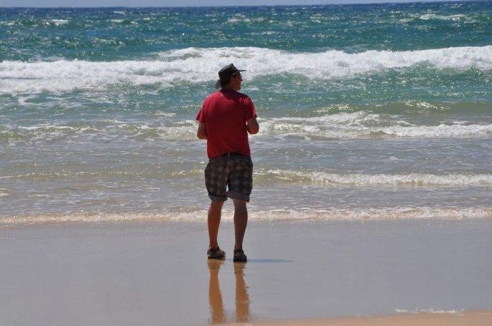 Bill on 75 mile beach
