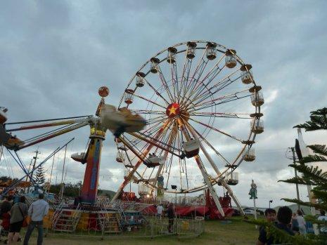 The fun fair was in town