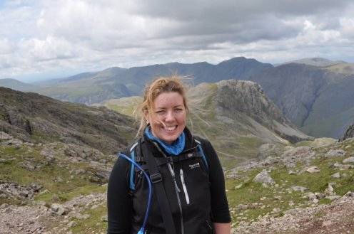 Eva at Scafell Pike