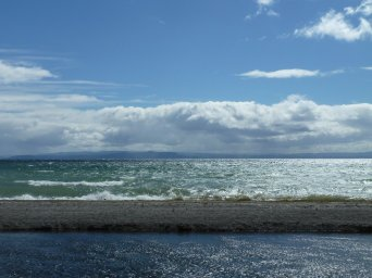 Looking out across Lake Taupo