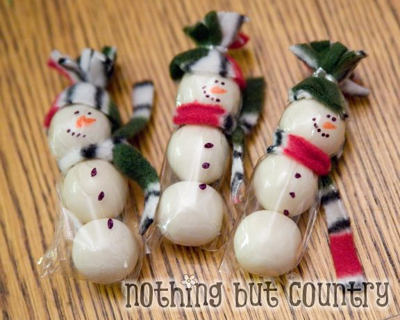 Easy Snowman Snacks