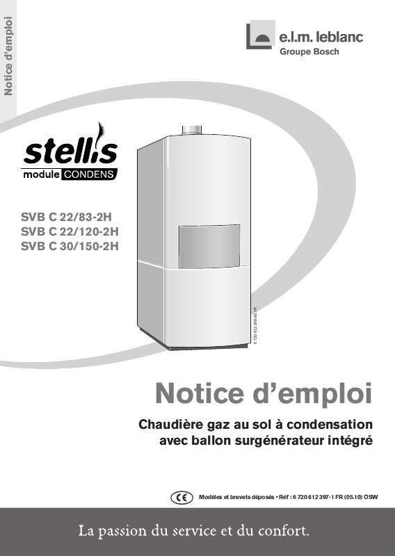 Notice D Utilisation Elm Leblanc Stellis Condens Svb C 30 150 2h Elm Leblanc Manuel Et Mode D Emploi