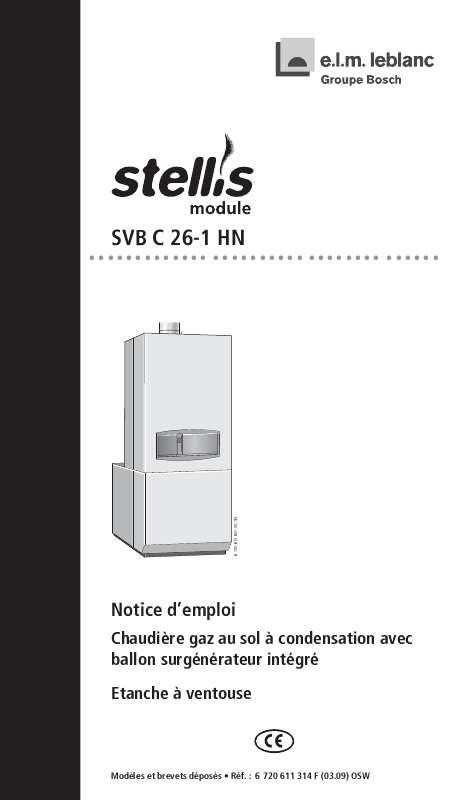 Notice D Utilisation Elm Leblanc Stellis Svb C 26 1 Hn Elm Leblanc Manuel Et Mode D Emploi