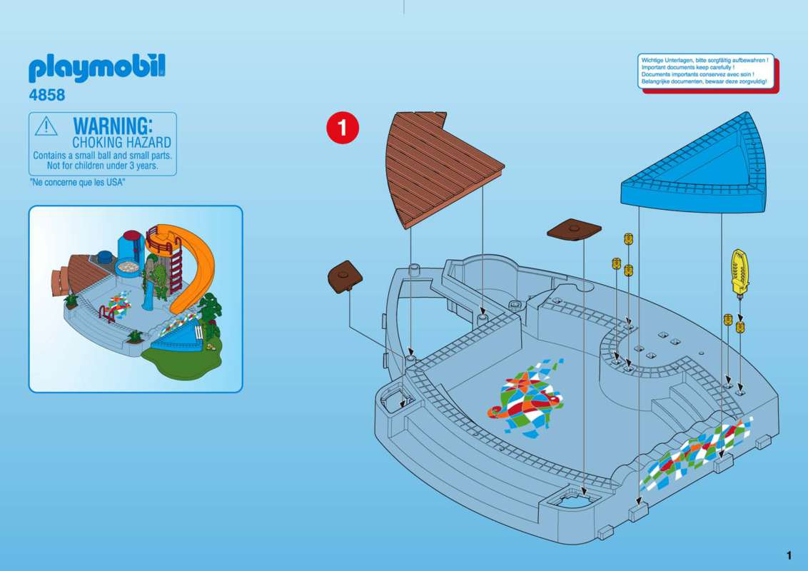 playmobil piscine avec toboggan
