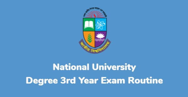 Read more about the article Degree 3rd Year Exam Routine 2021 PDF (New)