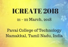 Pavai College Conference ICREATE 2018