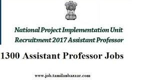 NPIU Assistant Professor Job Post