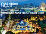 conference on academic studies human education social sciences