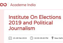 Institute on Elections 2019 Political Journalism
