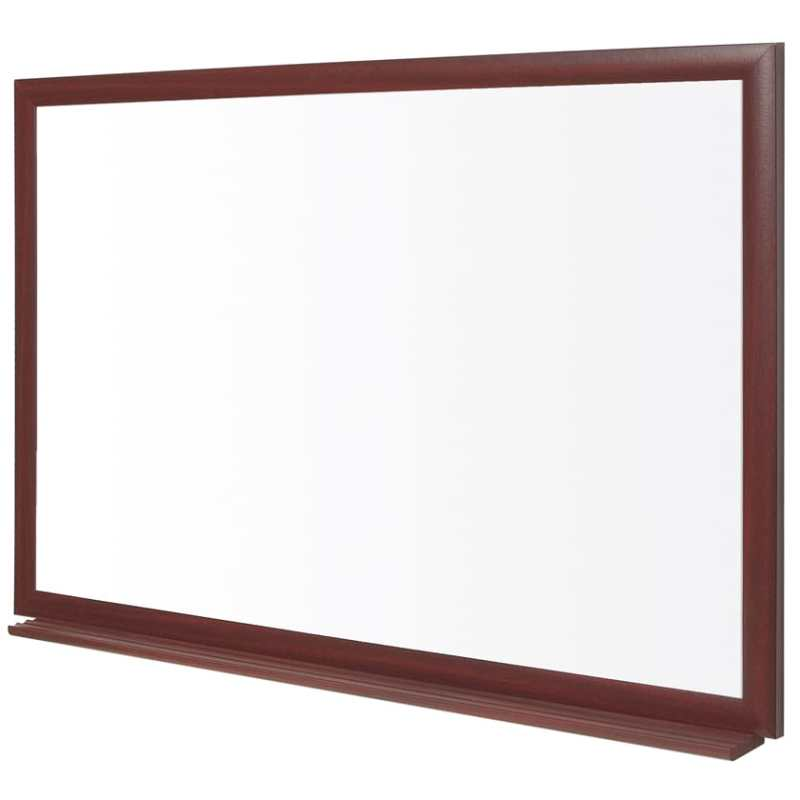 Earth-It Wood Frame Prime Enamel Whiteboard (600x900mm)