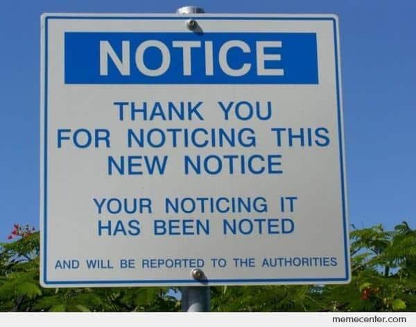 Notice Noticeboard