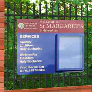 Rail Mounted Church Notice Boards