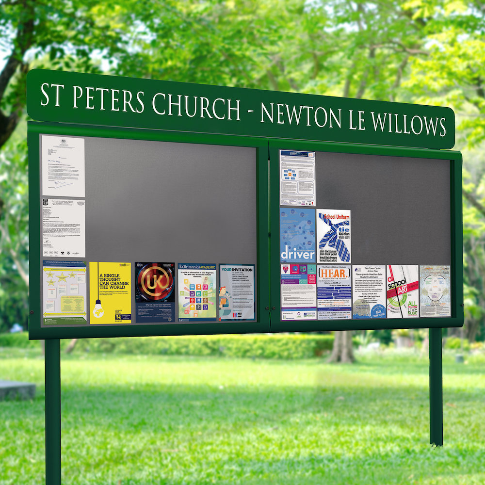 Personalised Weathershield Post Mounted Noticeboard