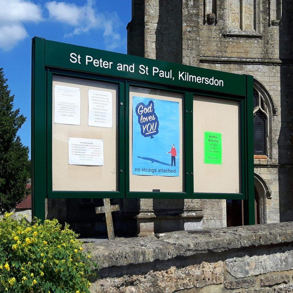 Varicase Double/Triple Door Post Mounted Church Noticeboards