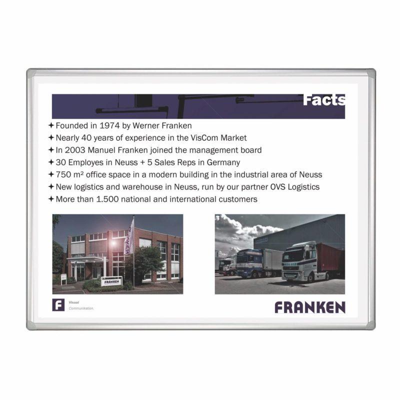 Franken Projection Enamelled Whiteboard 120x90cm