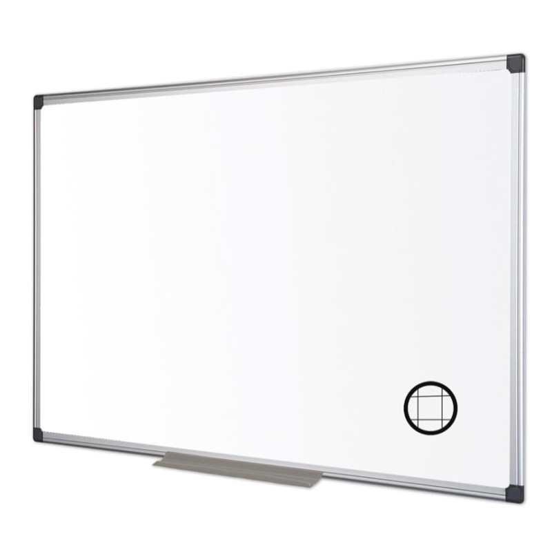 Maya Gridded Aluminium Framed Whiteboard