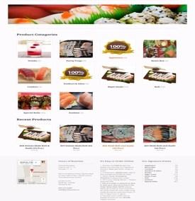Jumbo Sushi Ecommerce Restaurant Website