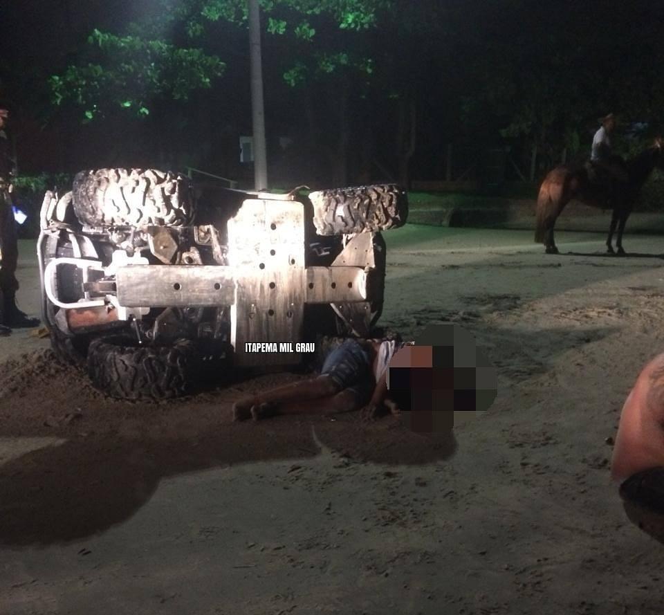 Lageano morre ao capotar quadriciclo em Itapema