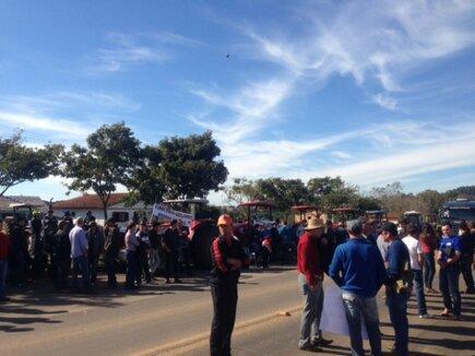Manifestação em Mato Castelhano/RS