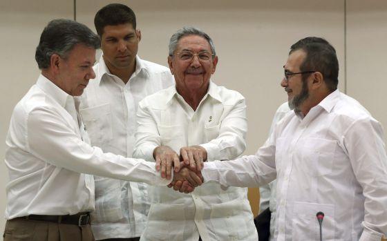 Santos y Timoshenko estrechan manos en La Habana