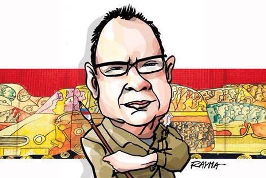 caricatura de Rayma a Pedro León Zapata