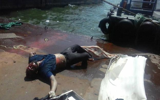 Cadáver en el Lago de maracaibo