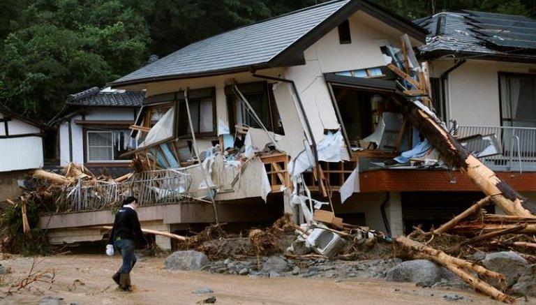estragos de las lluvias japon