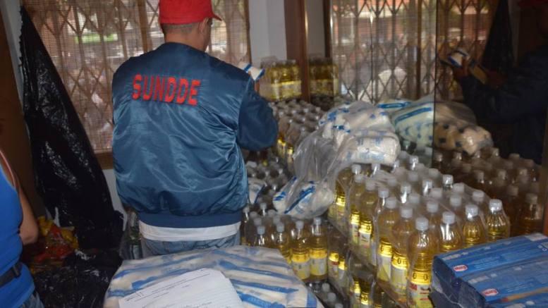 productos alimenticios decomisados por la SUNDEE