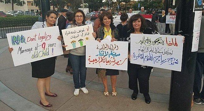 protesta por ley que elimina edad mínima para matrimonios en Irak
