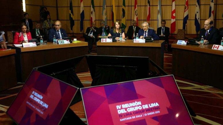 Grupo de Lima rechaza adelanto de elecciones presidenciales en Venezuela